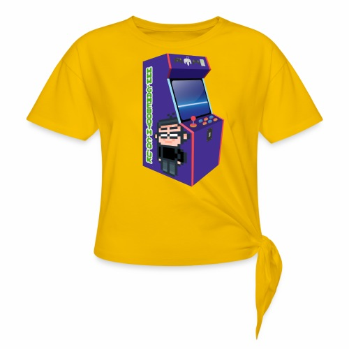 Game Booth Arcade Logo - Knotted T-Shirt