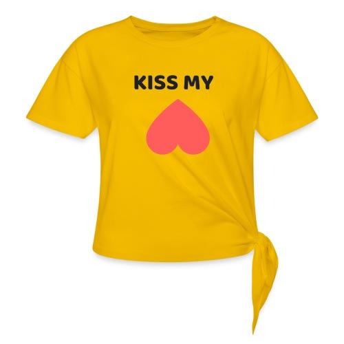 Kiss My Ass - Koszulka z wiązaniem