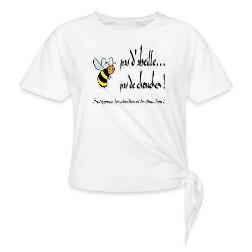 Pas d'abeille, pas de chouchen - T-shirt à nœud