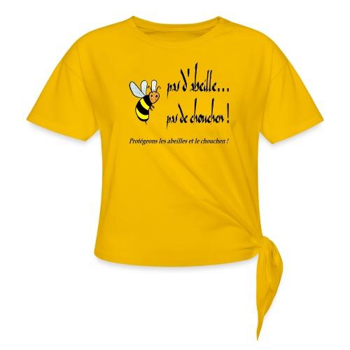 Pas d'abeille, pas de chouchen - T-shirt à nœud Femme