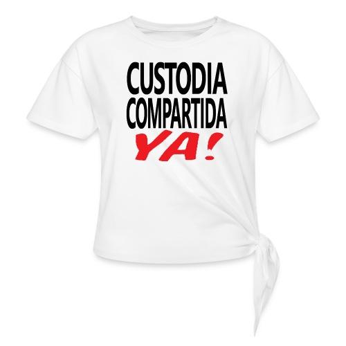 Custodia Compartida YA Negro - Camiseta con nudo mujer