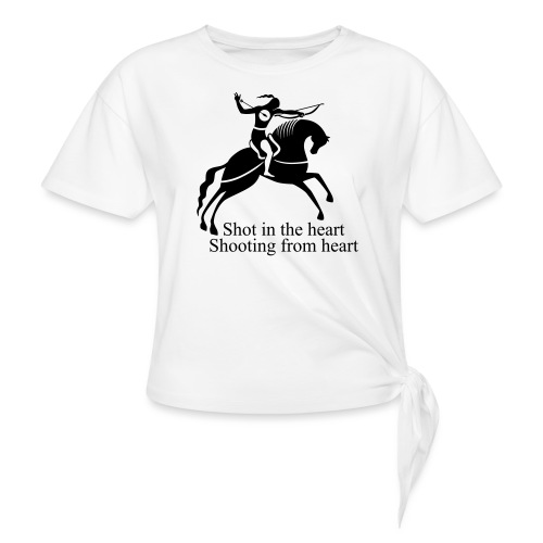 Shot in the Heart - Women's Knotted T-Shirt