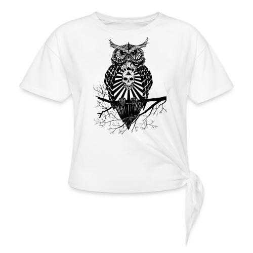Hibou Psychédélique - T-shirt à nœud
