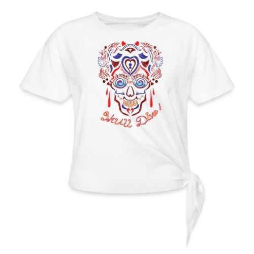 Skull Tattoo Art - Knotted T-Shirt