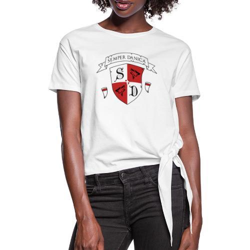 SD logo - hvide lænker - Dame knot-shirt