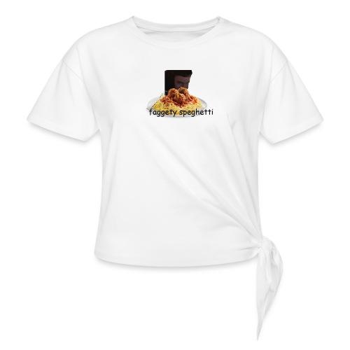 Fagetty Spaghetti (impact) - Women's Knotted T-Shirt