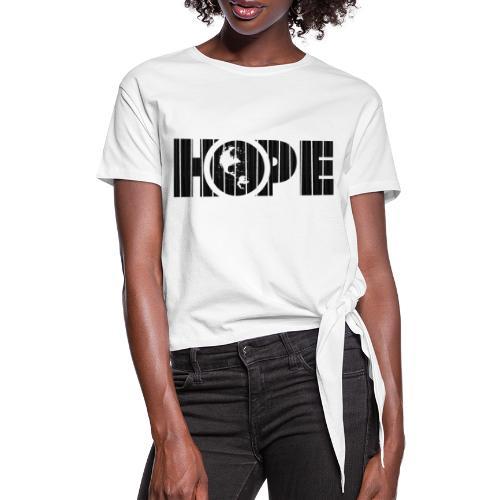 Hope Logo Black - T-shirt à nœud Femme