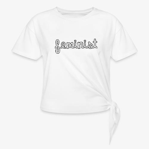 Feminist - T-shirt à nœud