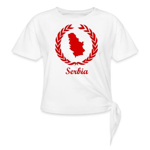 Connect ExYu Serbia Red Editon - Frauen Knotenshirt