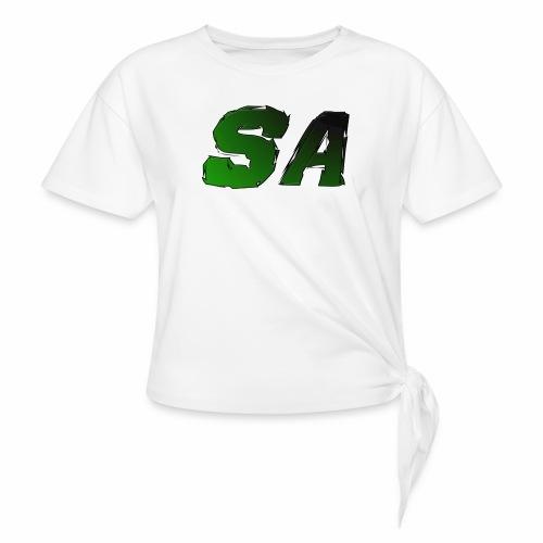 Grön SA Logo - T-shirt med knut dam