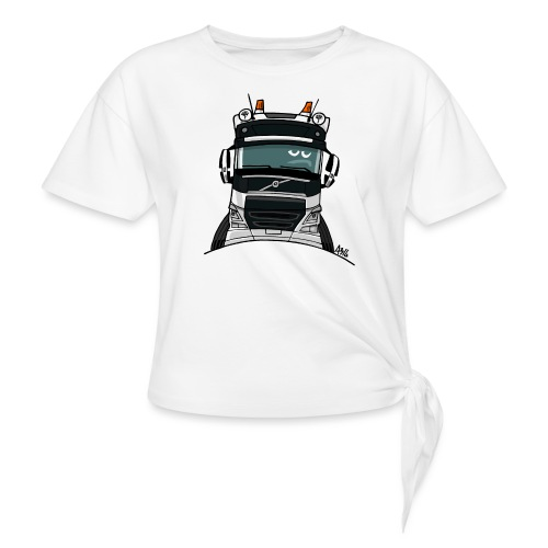 0488 V truck wit - Geknoopt shirt