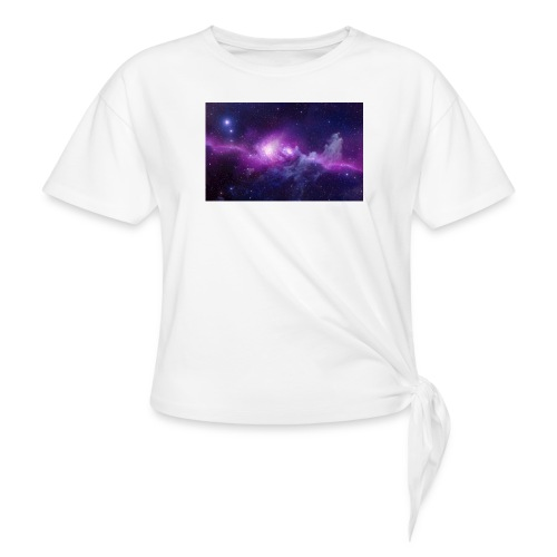 tshirt galaxy - T-shirt à nœud Femme