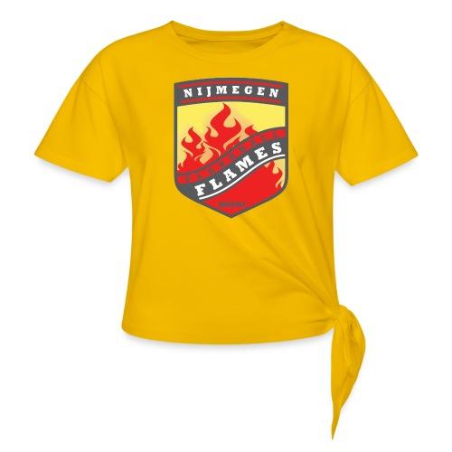 snapback pet rood/zwart combi - Vrouwen Geknoopt shirt