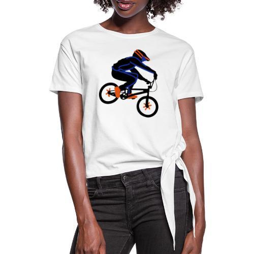 BMX Rider Dark - Vrouwen Geknoopt shirt