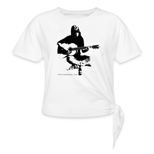 Cynthia Janes guitar BLACK - Women's Knotted T-Shirt