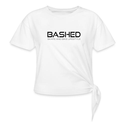 White iconic tee - Vrouwen Geknoopt shirt