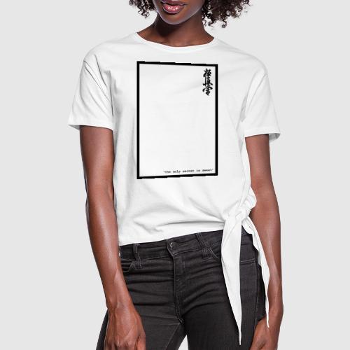 performance tshirt - Vrouwen Geknoopt shirt
