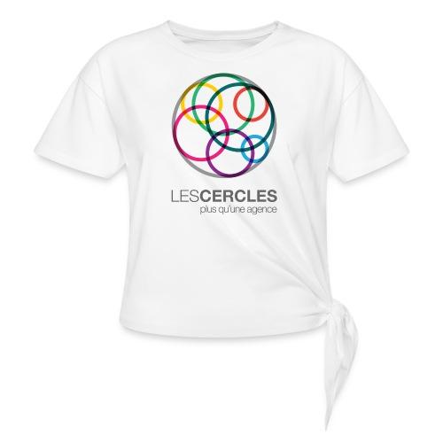LESCERCLES Logo Colour - Knotted T-Shirt
