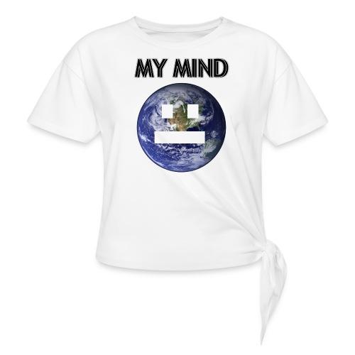MY MIND - T-shirt med knut dam