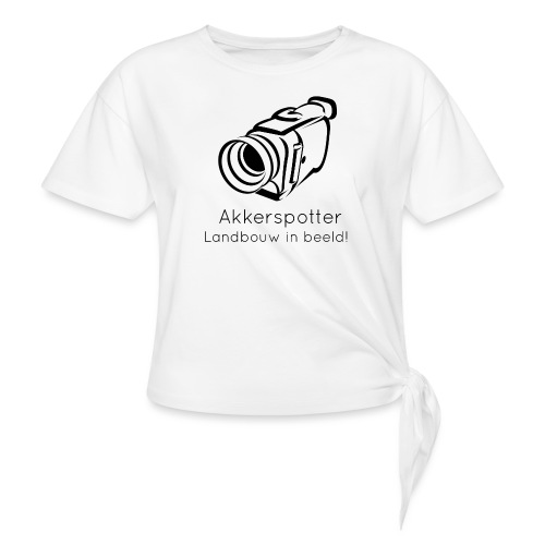 Logo akkerspotter - Vrouwen Geknoopt shirt