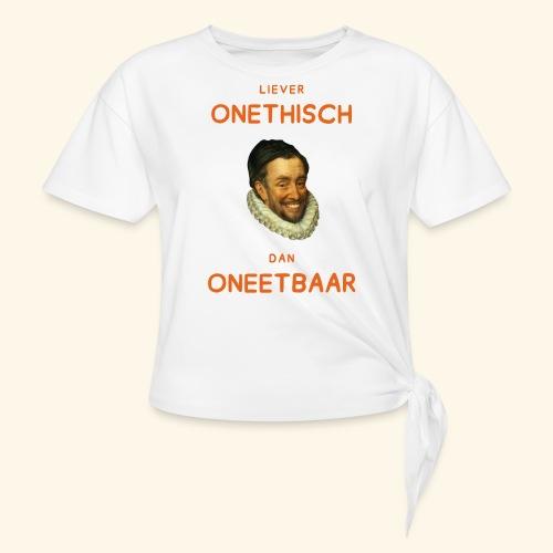Liever onethisch dan oneetbaar - Vrouwen Geknoopt shirt