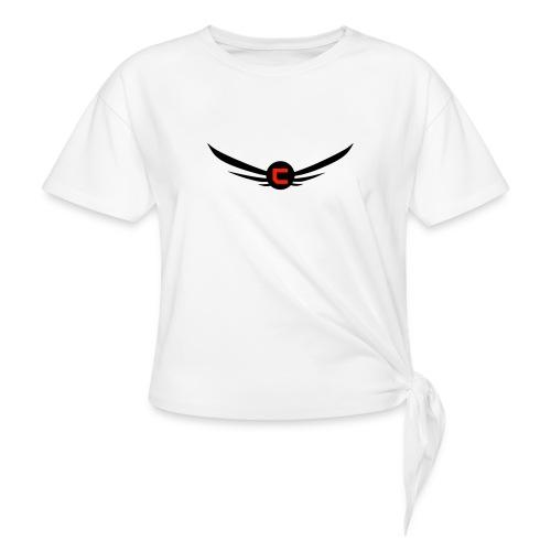 cloudy_v2_png-png - T-shirt med knut dam
