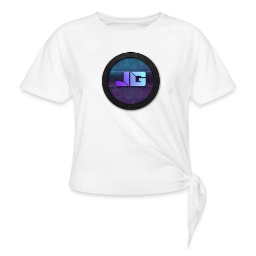 Pet met Logo - Vrouwen Geknoopt shirt
