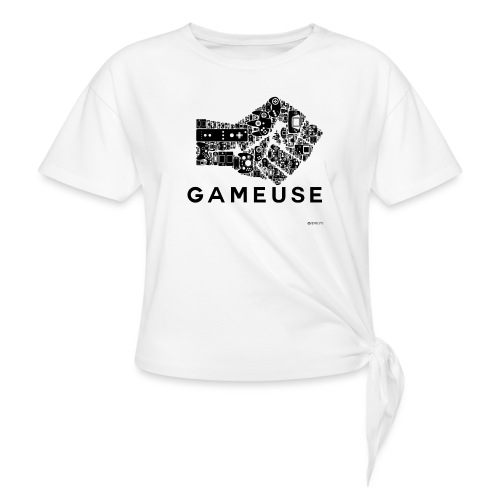 POING GAMEUSE - T-shirt à nœud