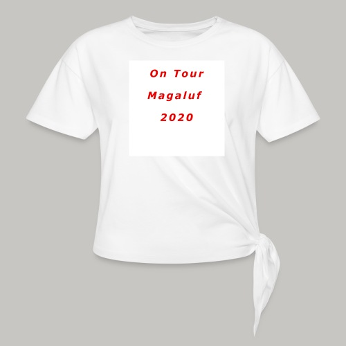 On Tour In Magaluf, 2020 - Printed T Shirt - Women's Knotted T-Shirt