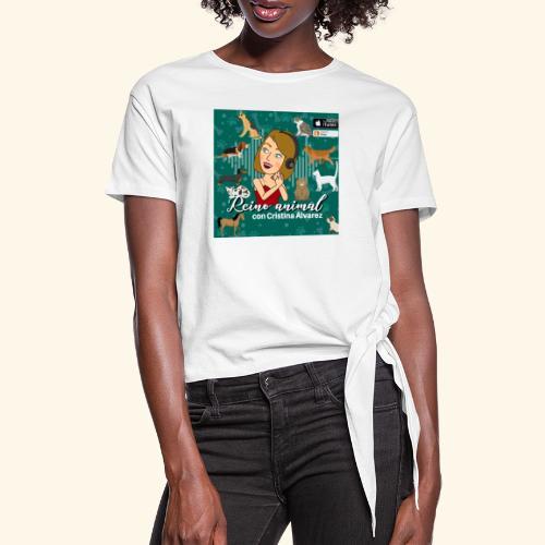 reino animal 01 - Camiseta con nudo mujer