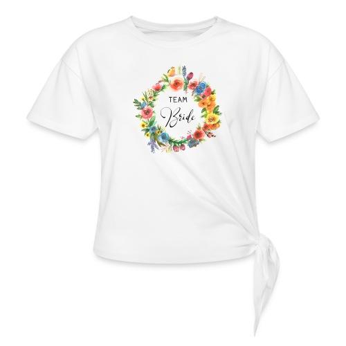 Team Bride BRAUT Flower n°2 - Frauen Knotenshirt
