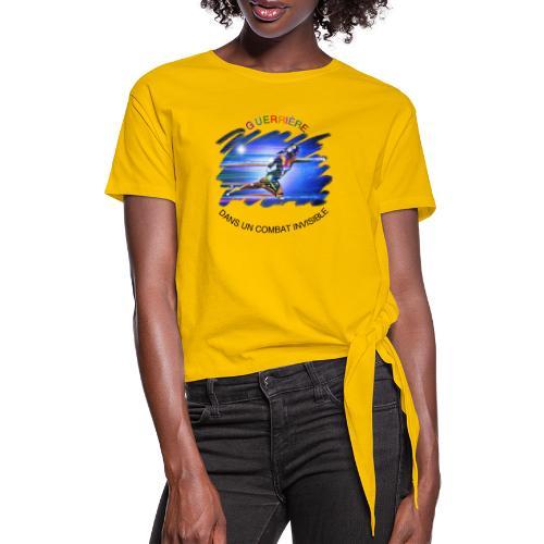 Guerrière dans un combat invisible - T-shirt à nœud Femme