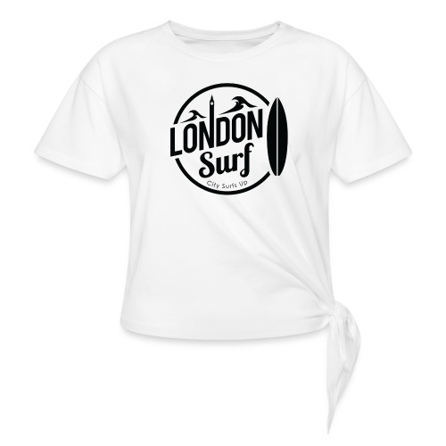 London Surf - Black - Knotted T-Shirt