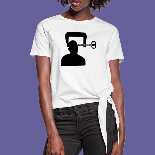 Mal de tête en grappe dans un étau - T-shirt à nœud Femme