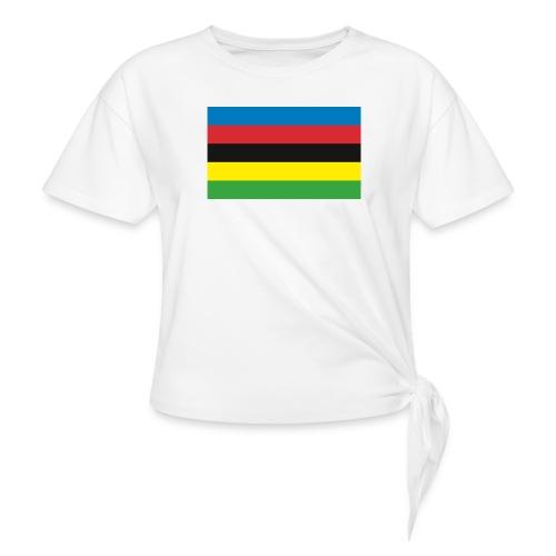 Cycling_World_Champion_Rainbow_Stripes-png - Vrouwen Geknoopt shirt