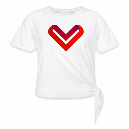 Coeur de V - T-shirt à nœud