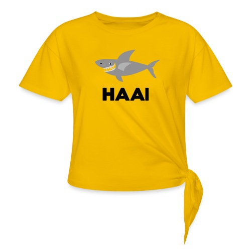 haai hallo hoi - Vrouwen Geknoopt shirt
