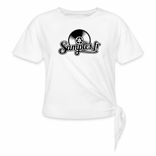 Gris / Noir (H / F) - T-shirt à nœud