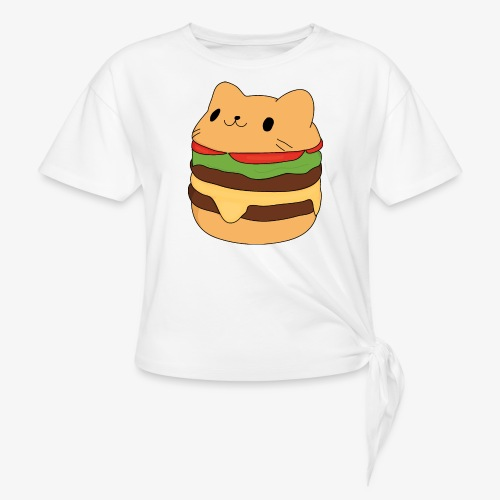cat burger - Knotted T-Shirt