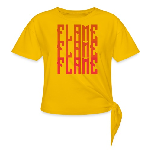 maglietta_flame_flame_flame - Maglietta annodata da donna