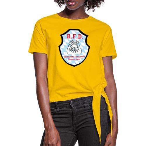 Inoffizielles bayrisches Feuerwehrabzeichen - Frauen Knotenshirt