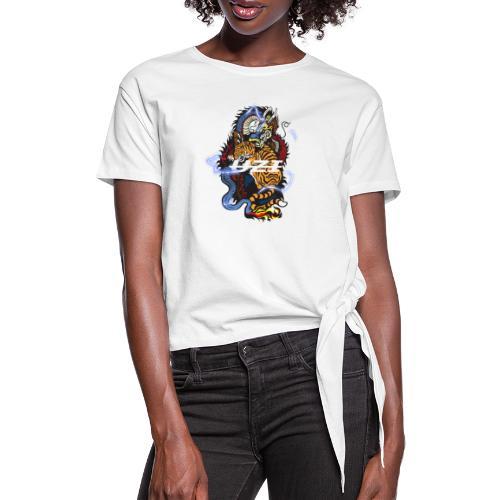 Tiger&DragonUzi - T-shirt à nœud Femme