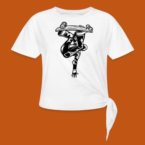 Skater / Skateboarder 03_schwarz - Knotenshirt