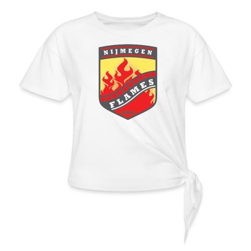 t shirt black - Geknoopt shirt