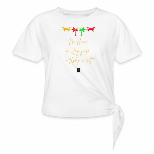 Colourful Holiday travel t shirts flight clothes - Women's Knotted T-Shirt