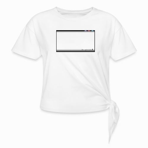 The Scots Review GO LIVE! Logo - Women's Knotted T-Shirt