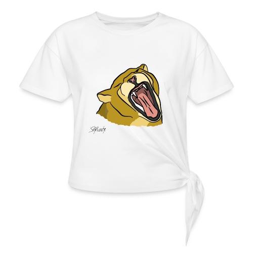 Gähnender / brüllender Löwe - Knotenshirt