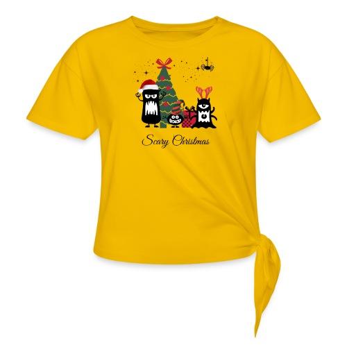 Noël effrayant - Scary Christmas - T-shirt à nœud Femme