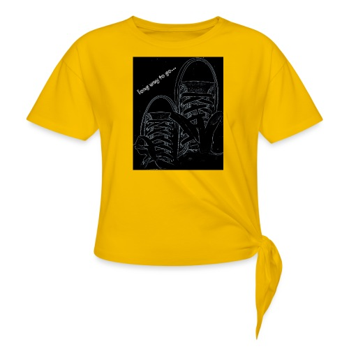Long way to go - Women's Knotted T-Shirt