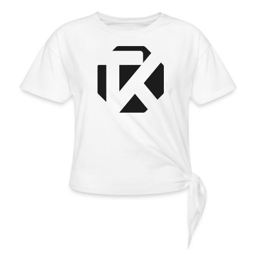 Logo TK Noir - T-shirt à nœud Femme